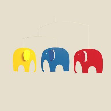 lieblingsst cke f r kinder mobile elefanten. Black Bedroom Furniture Sets. Home Design Ideas
